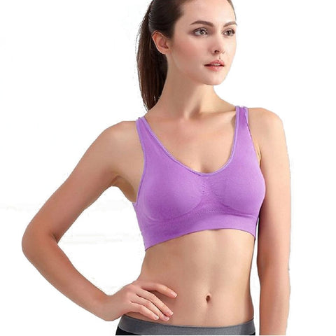 Sport Bra Seamless Wire Soft Padded plus size 3XL