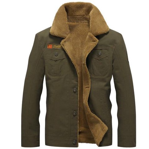 Pilot Jacket Warm Male fur collar