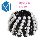 Pearl Rhinestones Colorful Bud Hair Claw Maker Bun Hairgrip Hairpins Hair Accessories