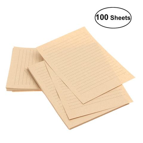 Sheets Vintage Kraft Letter Paper Retro Writing Paper