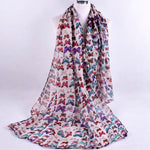 Women Ladies Fashion Printed Soft Chiffon Shawl Wraps Scarf Scarves