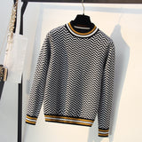 Striped Autumn Winter Women Sweater Thick Knitted Pullover and Sweater Fashion Casual