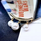 Fixed Straps Anti Slip Pin Korean Simple Pearl Brooch Women's accessories