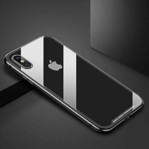 Magnetic Adsorption Flip Case For iPhone Xs Max Xs Metal Fram