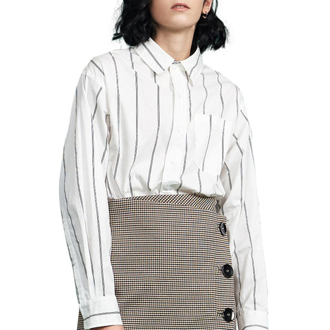 Ladies Striped Shirts for office