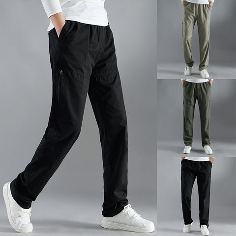 Men Fashion Solid Casual Comfortable Cargo Pants