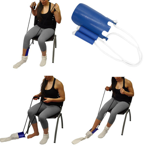 Adjustable Length Sock Dressing Assist Aid