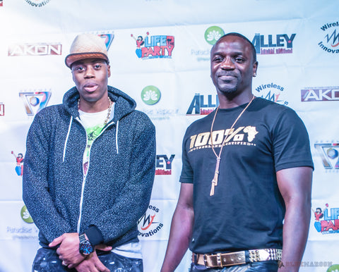 Bohten at Akon with Kardinal Offishall