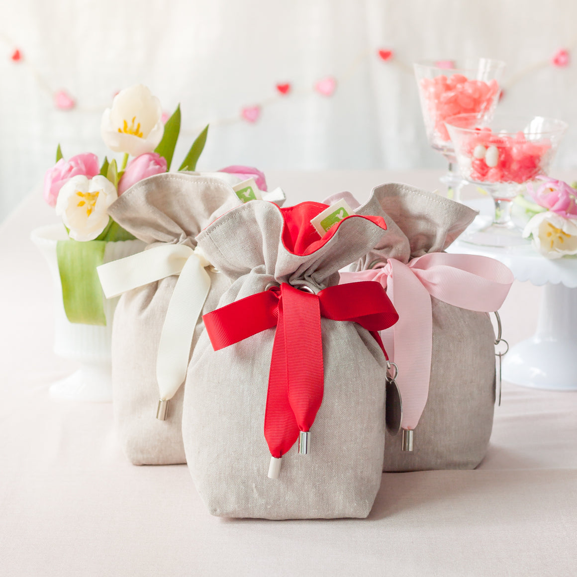 3 fabric gift giving bags