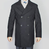 Mantoni Men's Conrad Wool Double Breasted Coat   ALL SIZES SOLD OUT