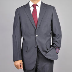 Carlo Lusso Men's Charcoal Gray 2- Button Suit