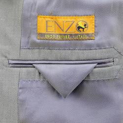 Enzo Tovare Men's Taupe Wool Suit