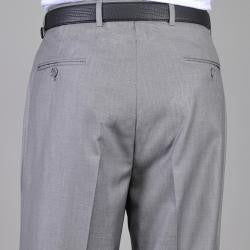 Giorgio Fiorelli Men's Light Gray Flat Front Pants