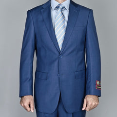 Giorgio Fiorelli Men's Petroleum Blue 2-Button Suit