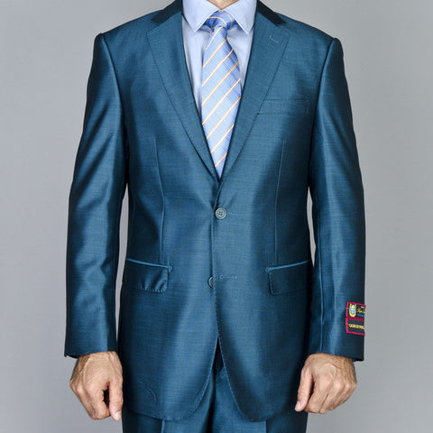 Giorgio Fiorelli Men's Teal Green 2-Button Suit     ALL SIZES SOLD OUT