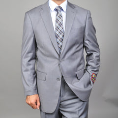 Giorgio Fiorelli Solid Gray Men's 2- Button Suit
