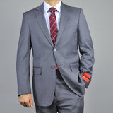 Mantoni Men's Charcoal Gray Wool 2-Button Suit