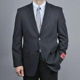 Mantoni Men's Black Tonal Wool 2-Button Suit