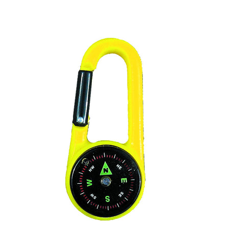 Plastic Carabiner with Compass