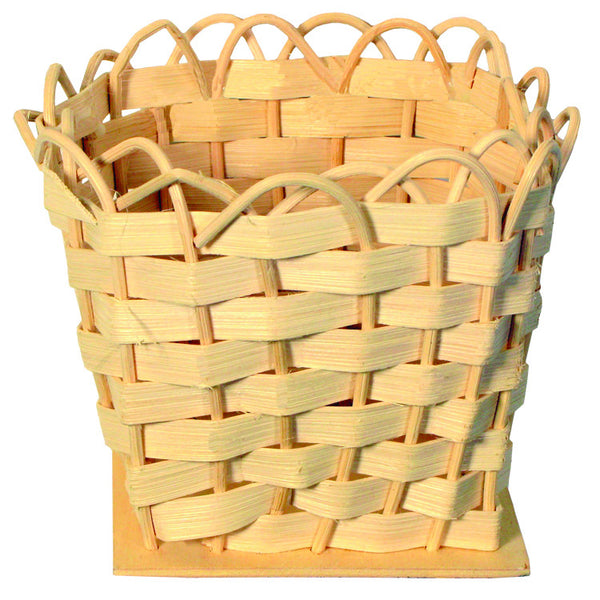 "Flat Reed Basket 4 "" x 4"""