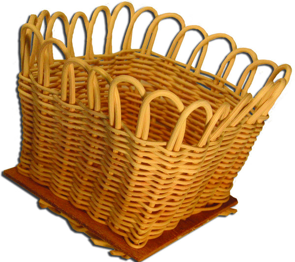 Basket Kit 4x4in Round Reed