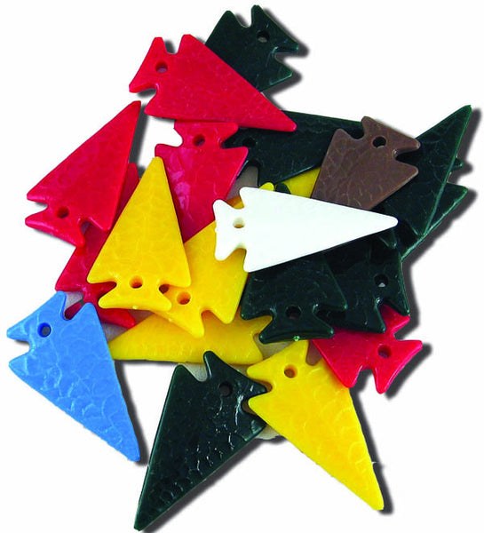 Arrowheads - Plastic- Assorted Colors