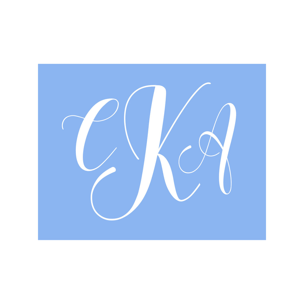 Monogram Stationery- Powder Blue