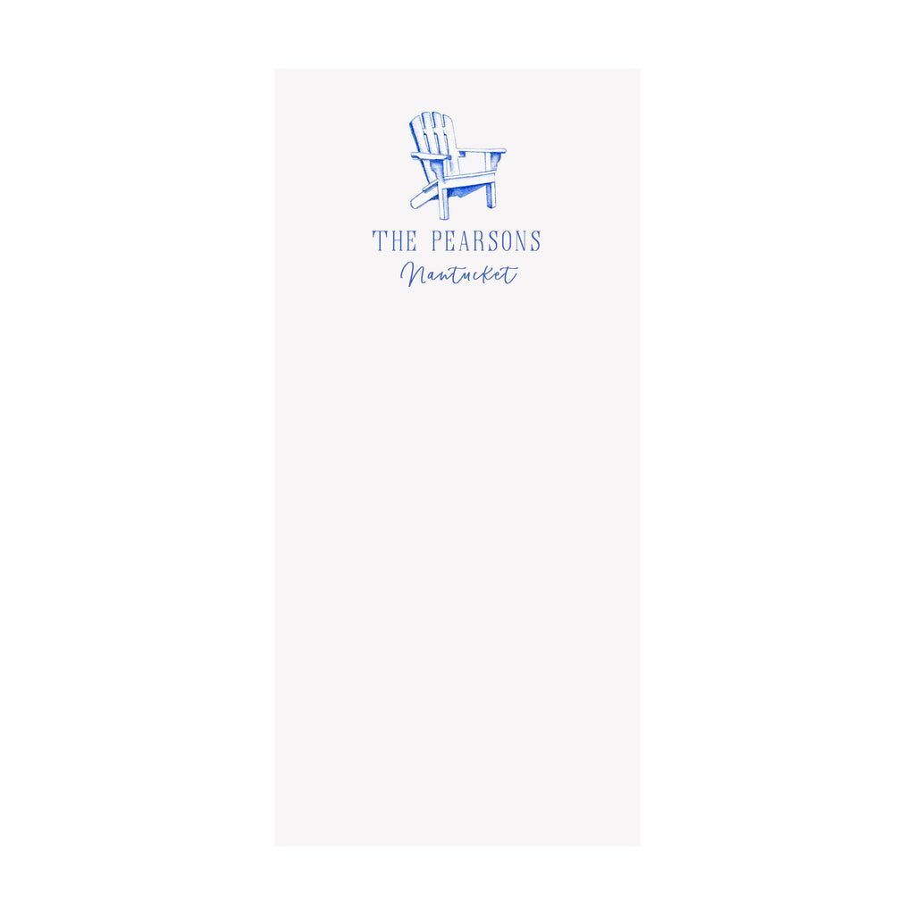 Adirondack Chair Notepad- Personalized