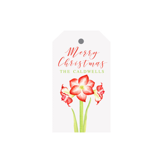 Amaryllis Personalized Luggage Gift Tags