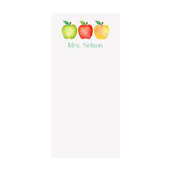 Apples Notepad- Personalized
