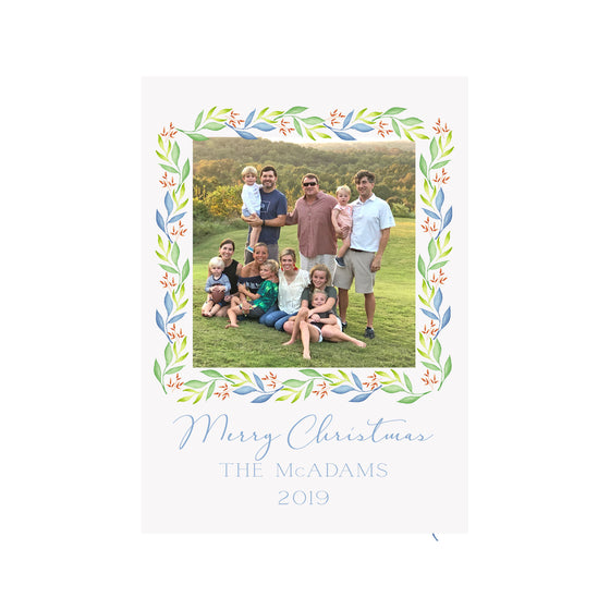 Autumn Garland Holiday Photo Cards