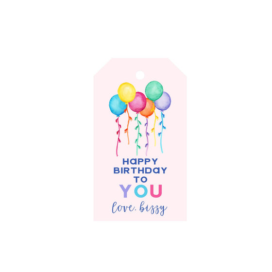 Birthday Balloons Personalized Luggage Gift Tags