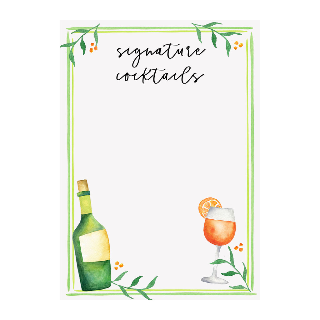 Party Paper - Cocktail Sign