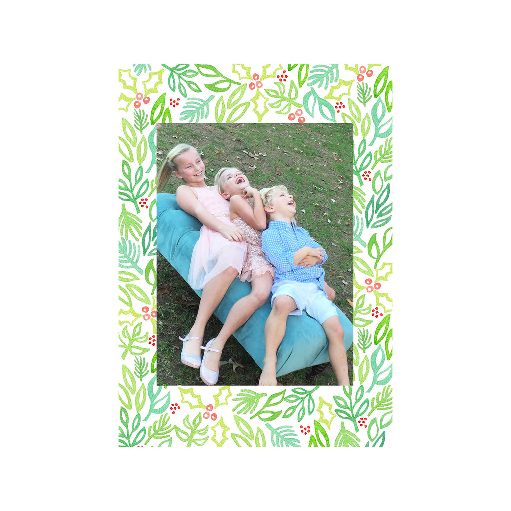 Beach Holly Holiday Photo Cards