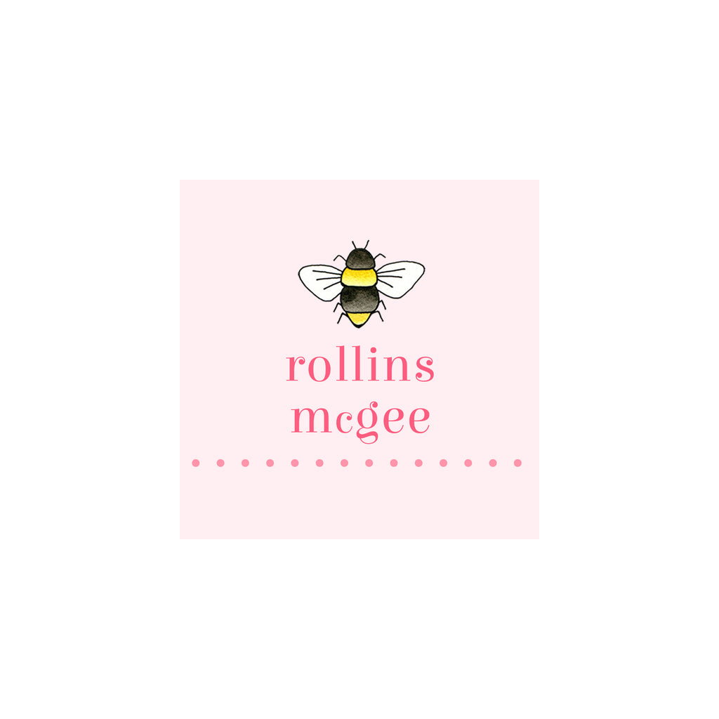 Bee Gift Tags & Stickers- Pink