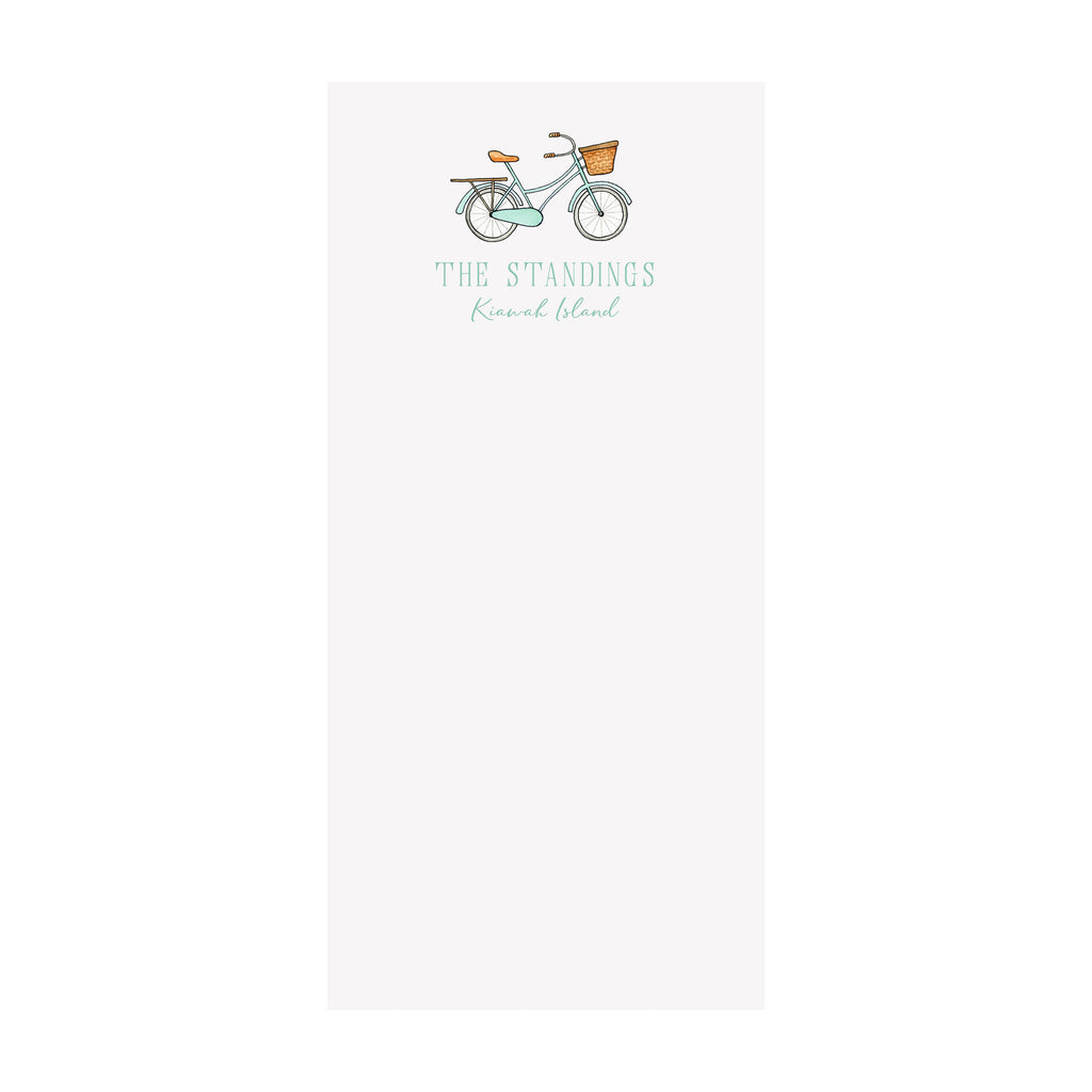 Bicycle Notepad- Personalized