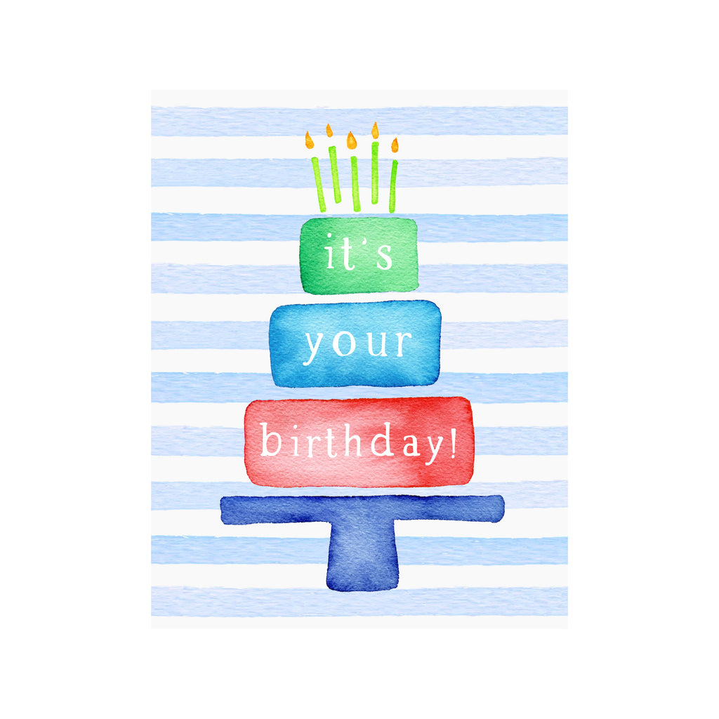 It's Your Birthday Cake Card- Blue