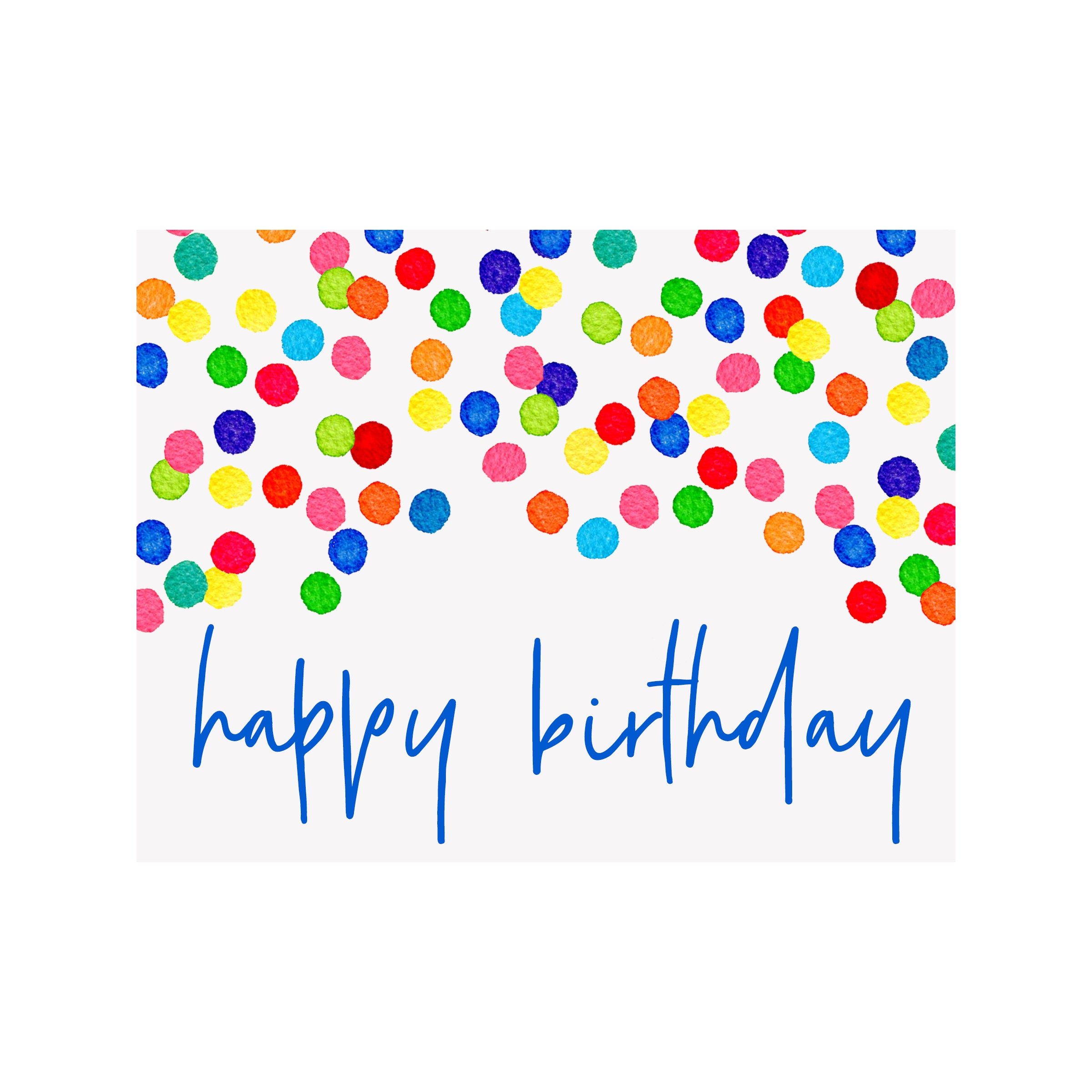 Confetti Happy Birthday Card Brake Ink