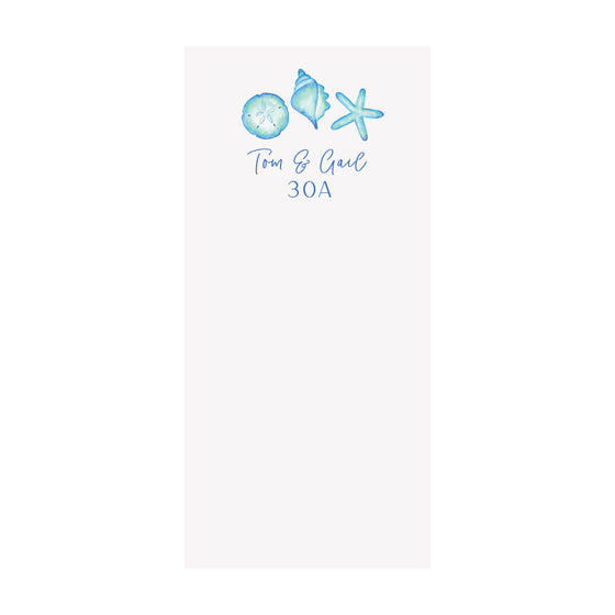 Blue Shells Notepad- Personalized