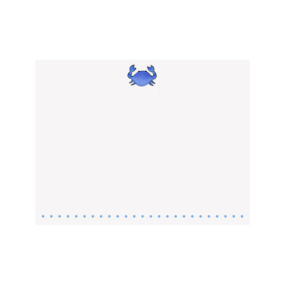 Crab- Blue Note Card