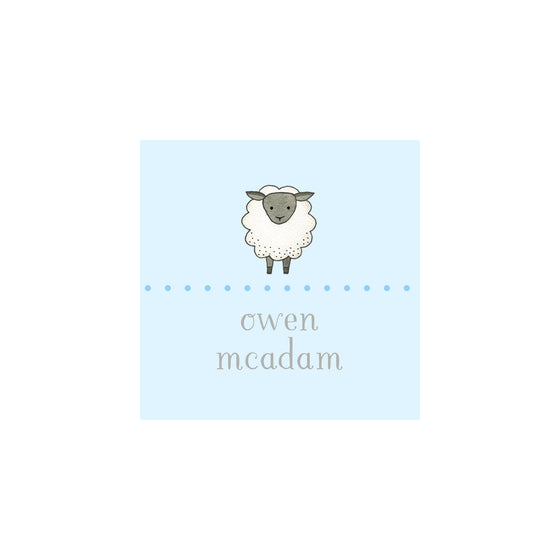 Sheep Gift Tags & Stickers - Blue