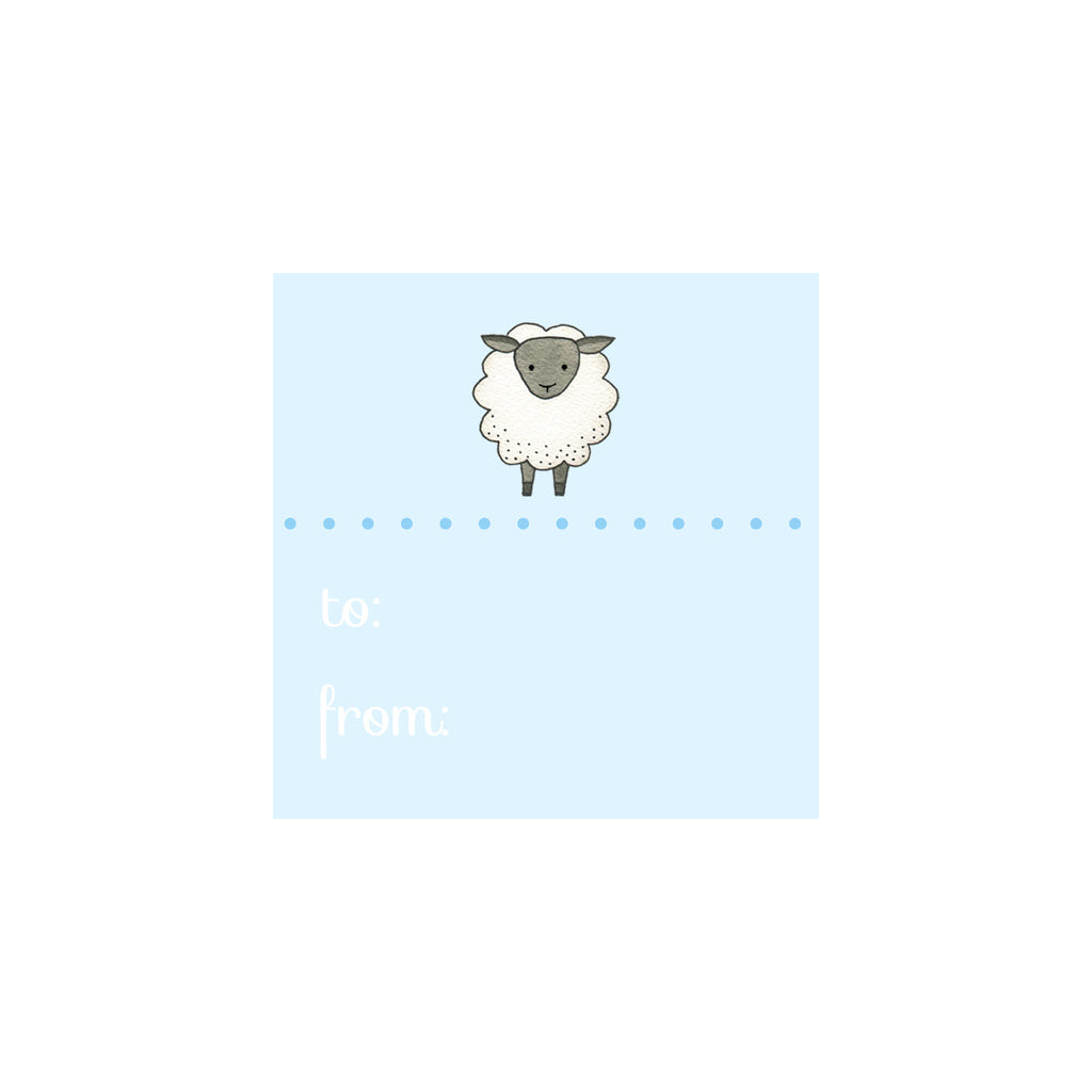 Sheep Gift Tag- Blue