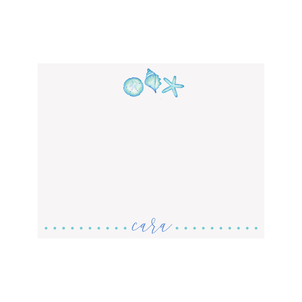 Blue Shells Stationery