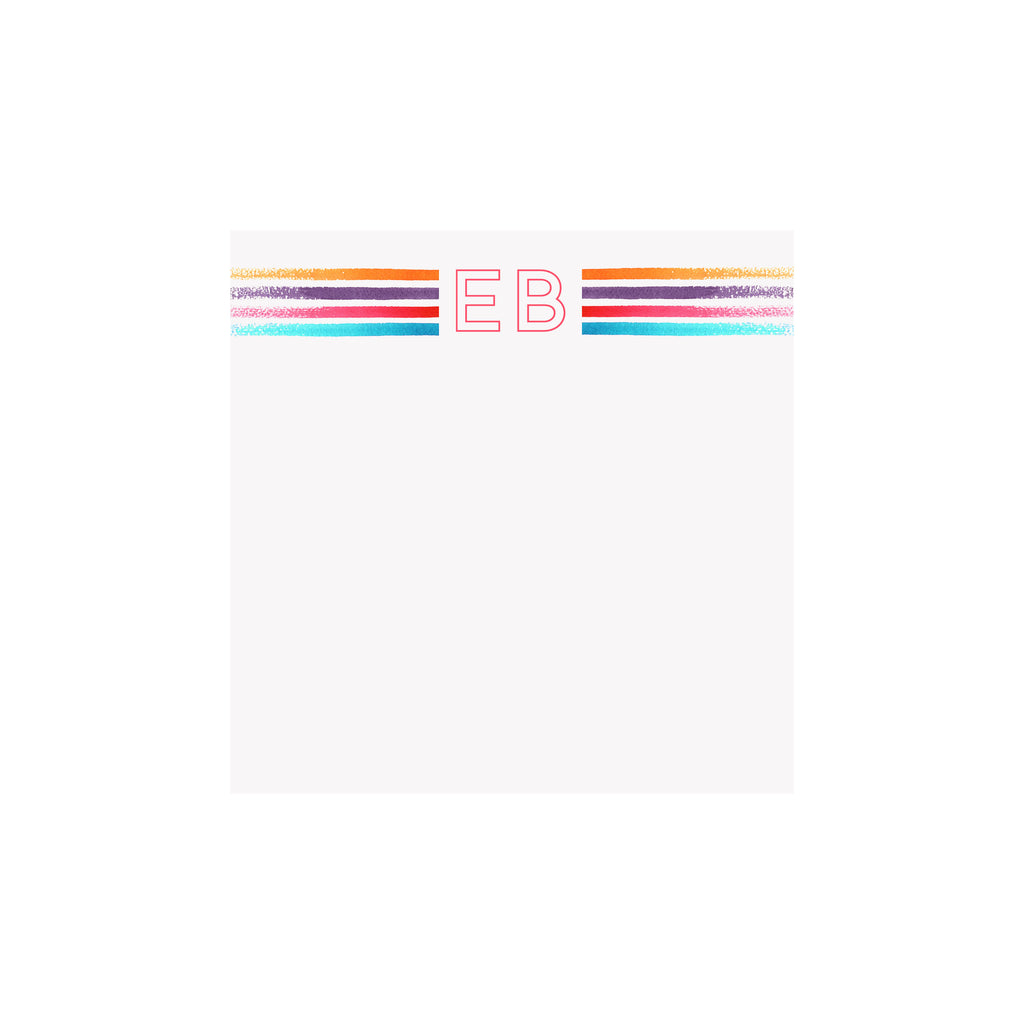 Bold Stripes Initial Notepad