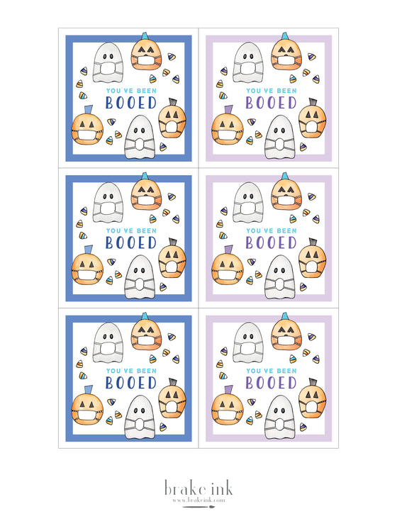 """You've Been Booed"" Printable Tags"