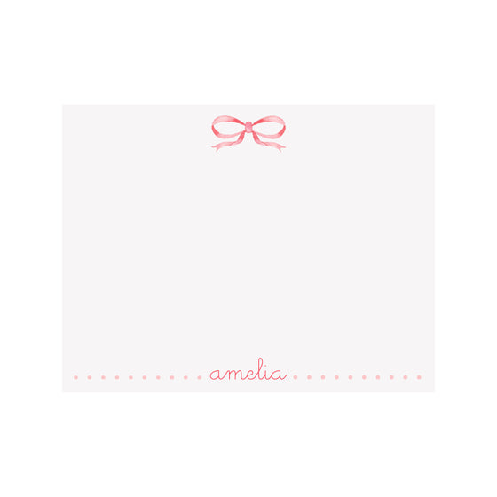 Bow Pink Stationery