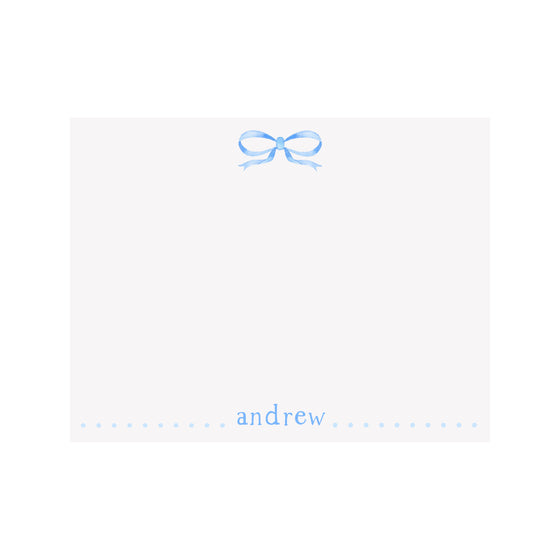 Bow Blue Stationery
