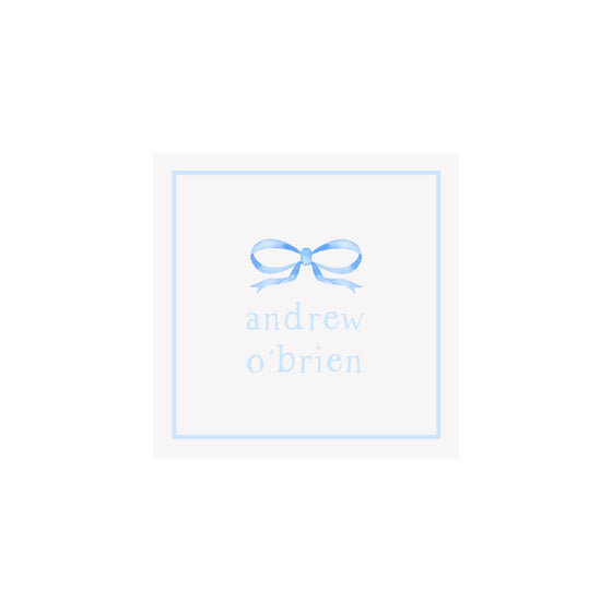 Bow Gift Tags & Stickers- Blue
