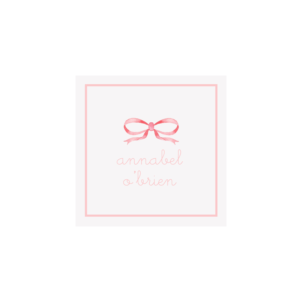 Bow Gift Tags & Stickers- Pink