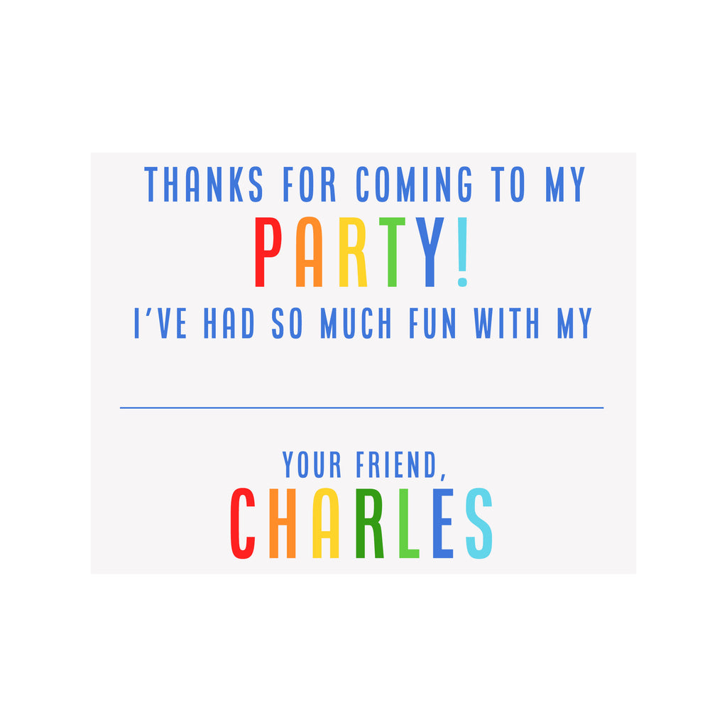 Party Stationery- Blue